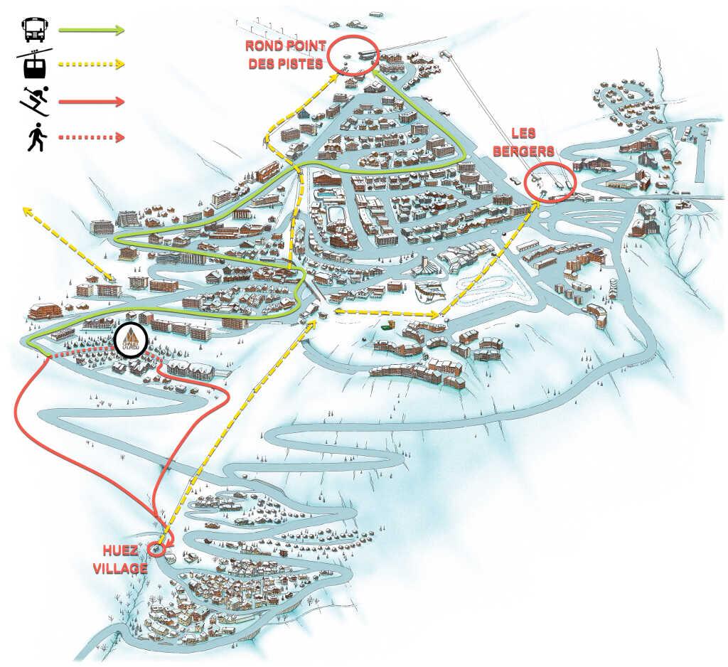 plan départ à ski