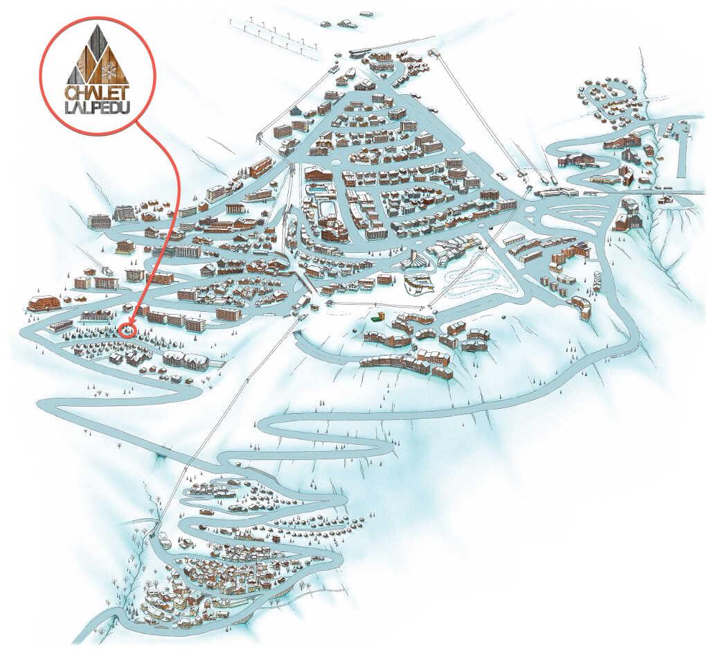 plan emplacement chalet Lalpedu