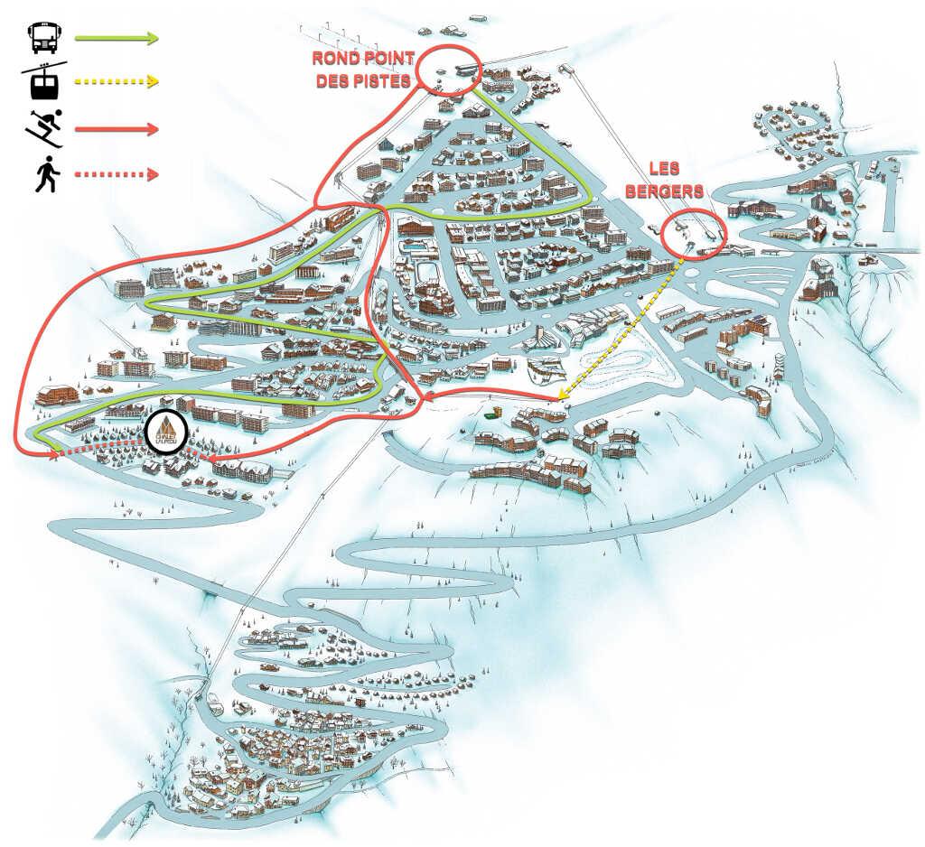 plan retour à ski